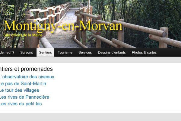 Refonte WordPress du site de Montigny-en-Morvan