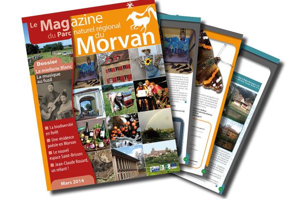 Réalisation du Magazine du Parc naturel régional du Morvan
