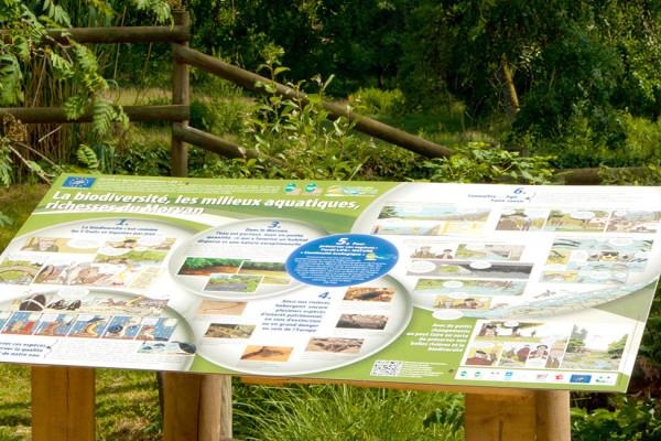 Panneau de d'exposition pour le programme Continuité écologique Life+