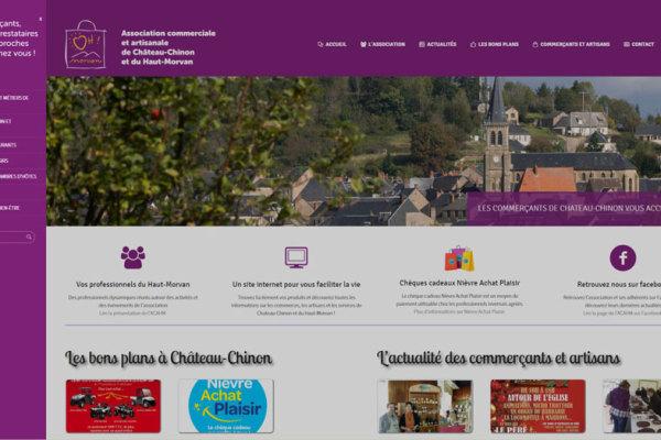 Site internet des commerçants de Château-Chinon et du Haut-Morvan