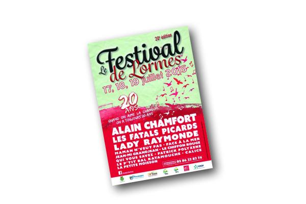 Création de l'affiche du Festival de la chanson à Lormes